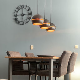 Design hanglamp met doorsnede