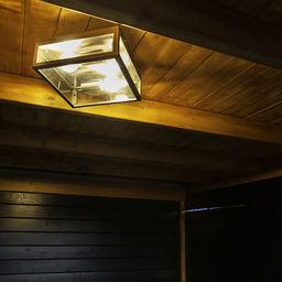 Moderne plafondlamp met IP44 rating