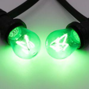 Groene dimbare filament lamp voor guirlande of prikkabel