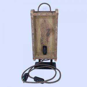 Lumico Wooden Brick Mold tafellamp vintage